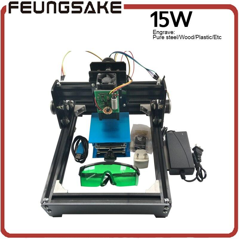 15W diy máquina de gravação a laser, 15W laser_AS-5, grava aço máquina da marcação, cnc router máquina de escultura de aço, brinquedos avançados