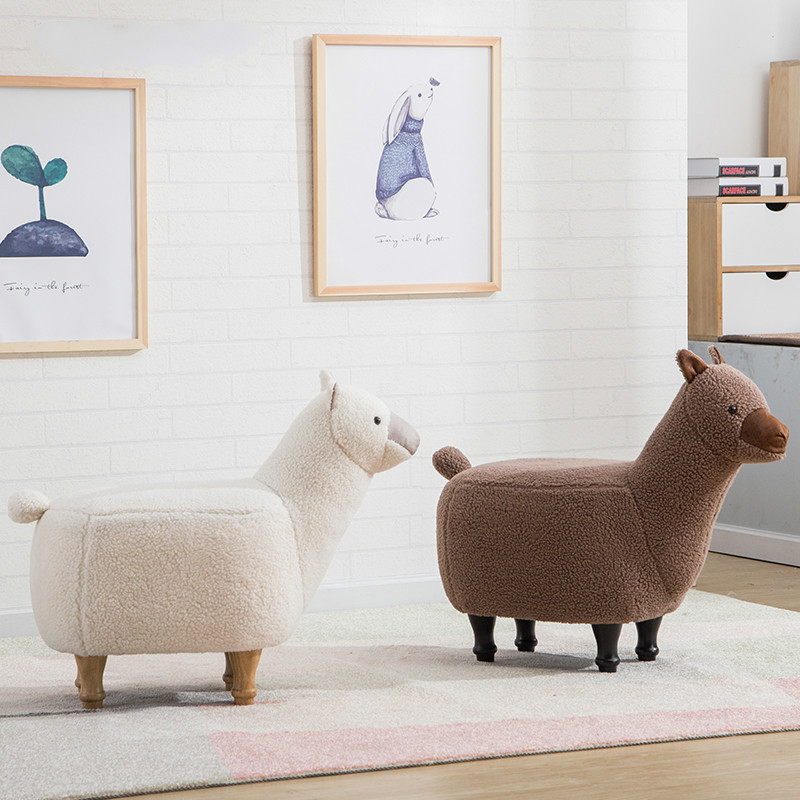 Living Room Furniture Louis Fashion Stools Ottomans Cartoon Animal Sofa Alpaca Hall Storage Testing Shoes Modern Simple Shoes Home Furniture