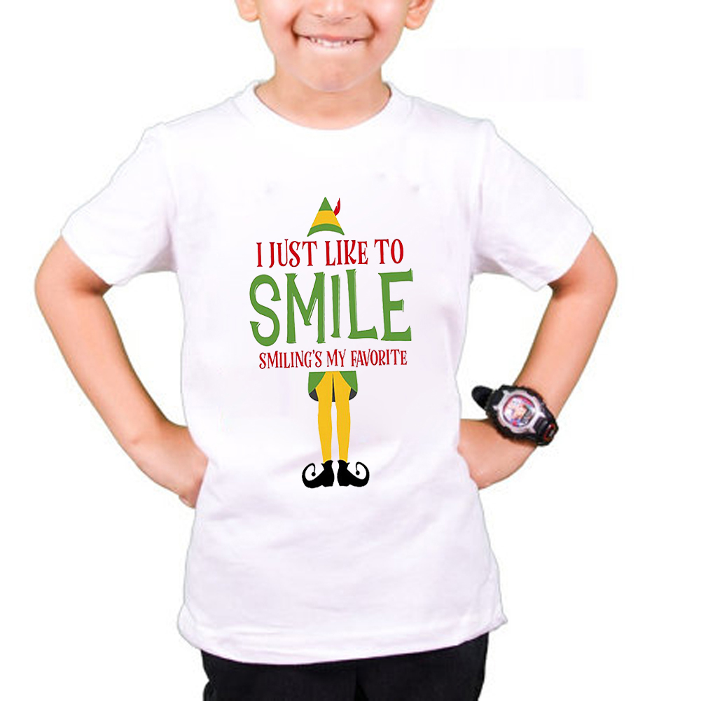 TOP BOYS GIRLS Kids Child/'s Christmas Santa Personalised T Shirt Great Gift