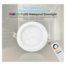 New Miboxer FUT063 6W RGB+CCT Waterproof LED Downlight AC100~240V,FUT089 8-Zone RGB+CCT Remote Controller