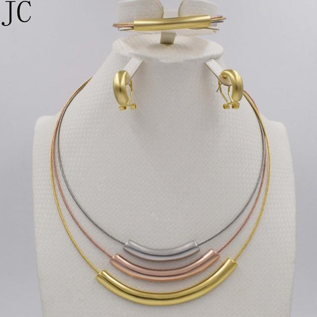 New High Quality set Dubai African Gold color 3color set Fashion