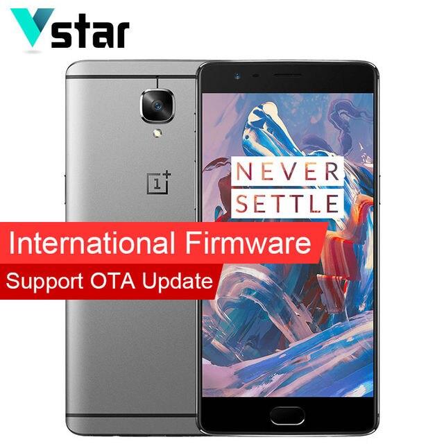 "International Firmware Original Oneplus 3 Oxygen OS Marshmallow 5.5"" Snapdragon 820 Quad Core 6GB RAM Cell Phone LTE Cat 6"