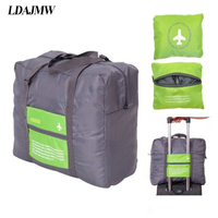 32L Large Capacity Luggage Packing Tote Shoulder Travel Shopping Big Bag Folding Clothes Storage Pouch Organizer