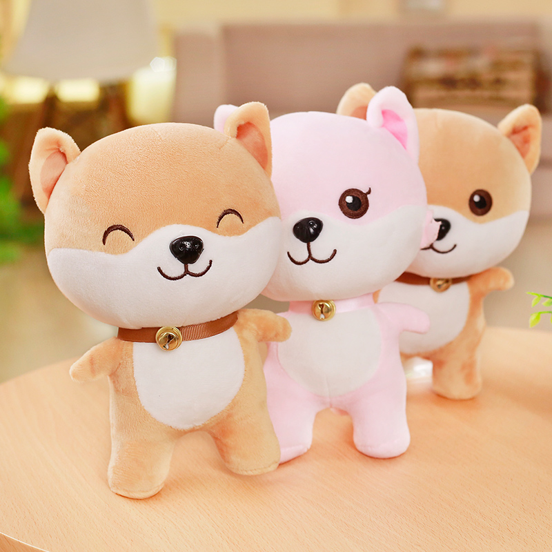 1pc 25cm Cute Wechat Emoji Package Cartoon Figures Plush Toy Staffed Lovely Kids Corgi Dog Couples Doll Valentines Gift for Girl