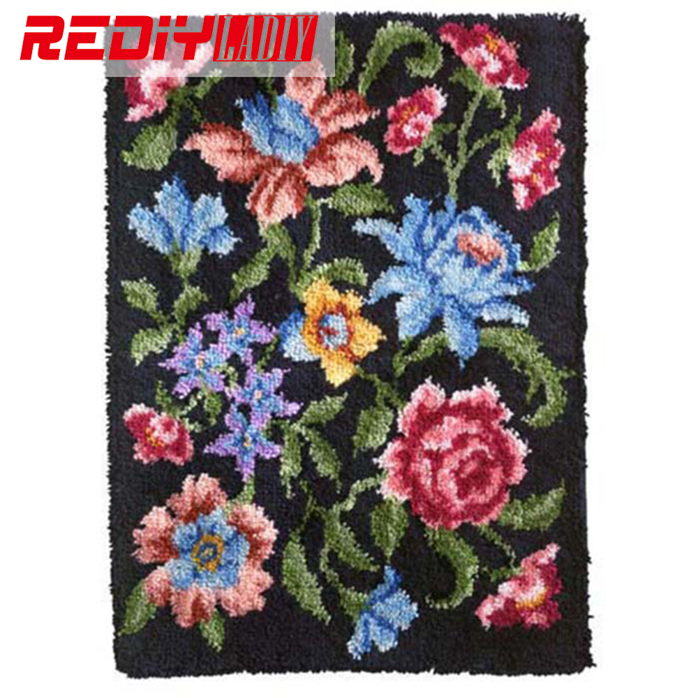 Diy Tapijt Kleed Bloemen Dans Deken Klink Haak Kleed Haken Tapestry