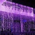 8 M x 3 M LED Twinkle iluminação LED 800 natal fada cordas casamento cortina de fundo festa ao ar livre luzes de natal 110 V 220 V