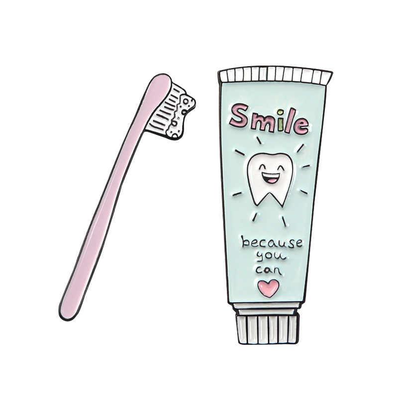 Versi Korea dari Kartun Lucu Pasta Gigi Sikat Gigi Bros Cinta Gigi Set Kombinasi Ornamen