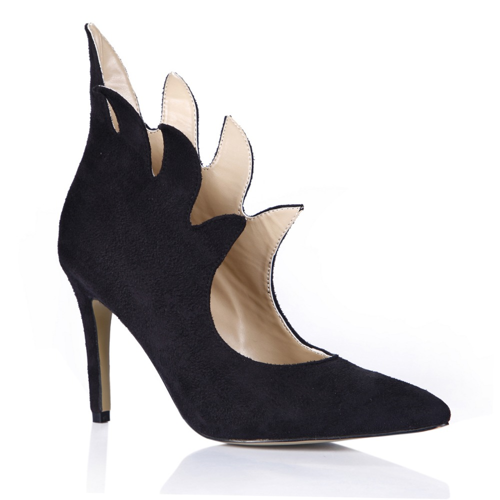 Woman High Heels Shoes Novelty New Fashion Pumps Autumn Winter Women  Pointed Toe Slip-on Single Shoes All-match Shoes big size 255823dceffe8