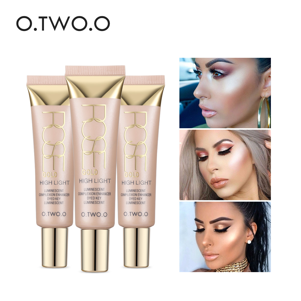 O.TWO.O Face Highlighter Primer Brightening Face Primer Whitening Moisturizer Oil-control Base Foundation