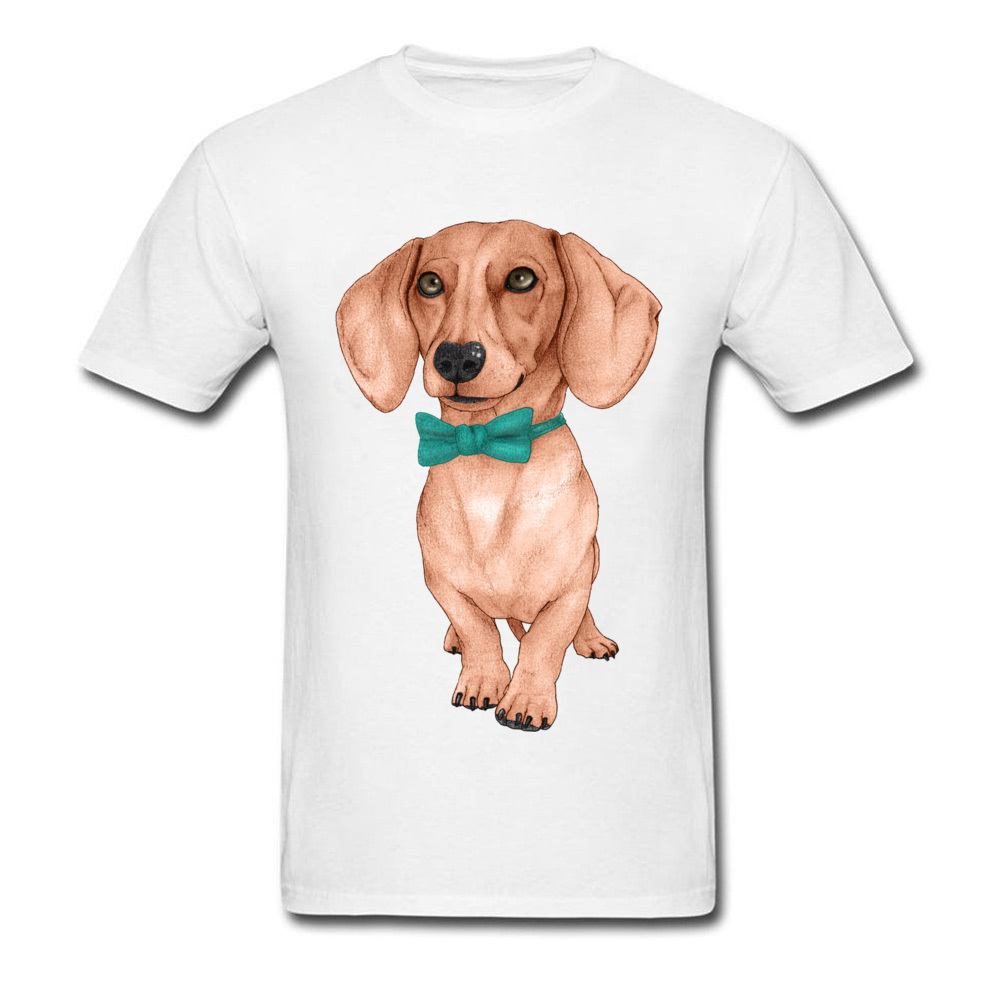 06719f13 I Love My Dog Pet Animal T Shirts Men Dachshund Wiener Dog Drawing Picture  Tshirt For Handsome Man Cute Teckel Cotton Tees-in T-Shirts from Men's  Clothing ...