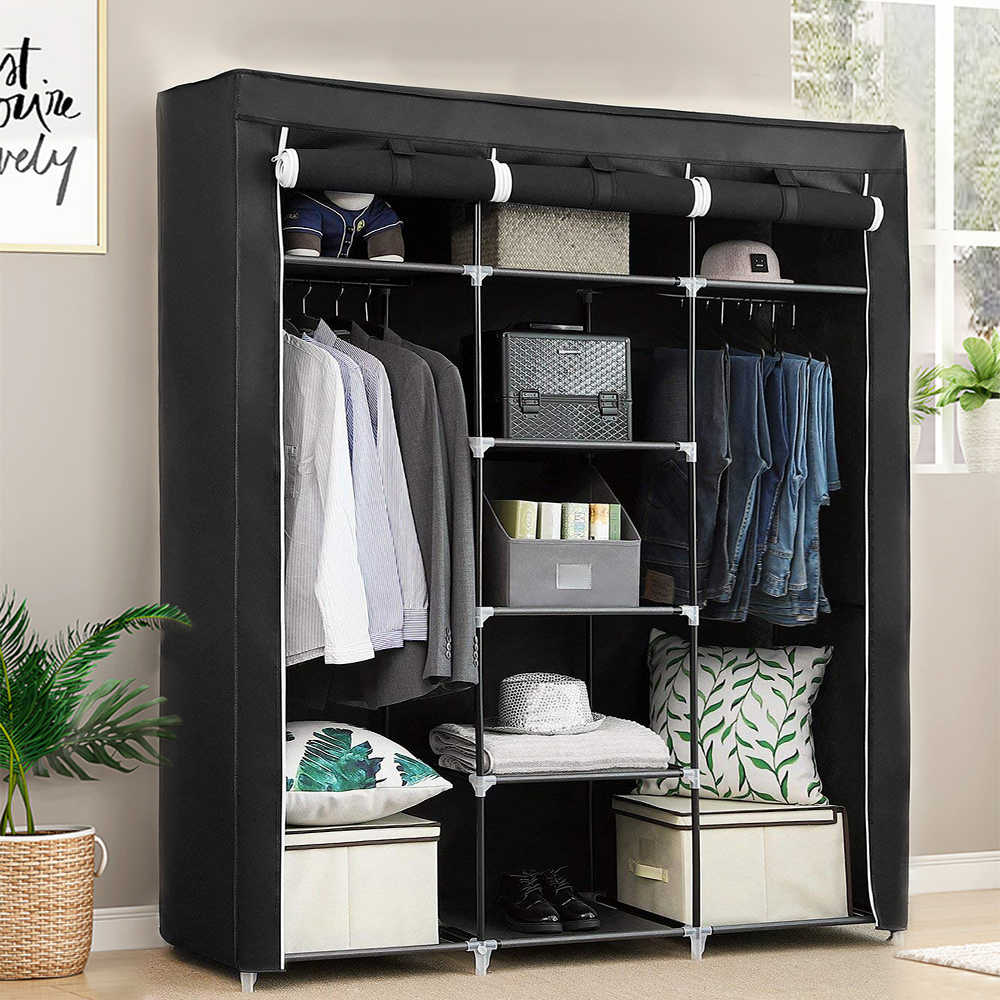 Non-woven Cloth Wardrobe Fabric Closet Portable Folding Dustproof Waterproof Clothing Storage Cabinet Furniture HWC