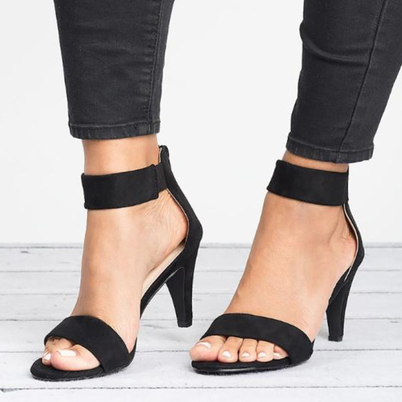 Women Sandals Open Toe Summer Shoes With 5CM High Heels Sandals Female Plus Size 43 Thin Women Sandals Open Toe Summer Shoes With 5CM High Heels Sandals Female Plus Size 43 Thin Heel Shoes Woman 2019 Sandalias Mujer