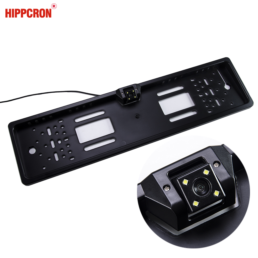 Hippcron Car Rear View Camera in EU European License Plate Frame Night Vision
