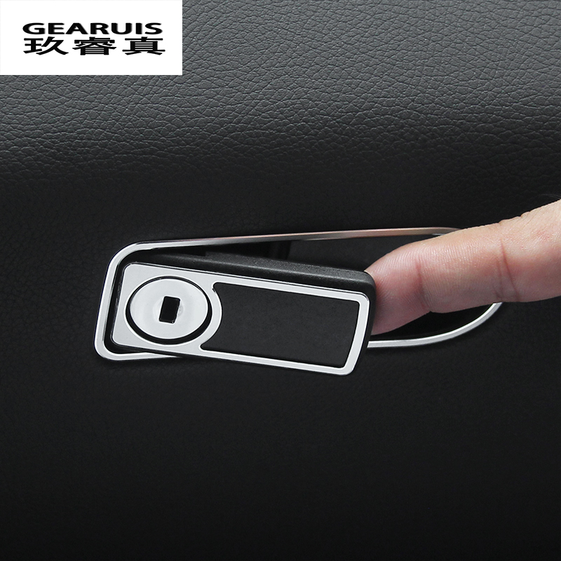 Car Styling Interior Toolbox Handle stickers Decoration Trims frame Cover sequins For Mercedes Benz C Class W205 2015-2017 GLC 11pc x canbus no error led interior dome light lamp kit package for mercedes benz glc class x253 glc250 glc300 glc350 2015