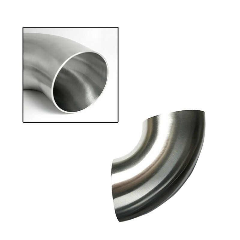 51 مللي متر أنابيب العادم الفولاذ المقاوم للصدأ 90 درجة الانحناء ملحومة الكوع أنبوب 1.5 مللي متر سميكة 1 قطعة السيارات الأخفاف