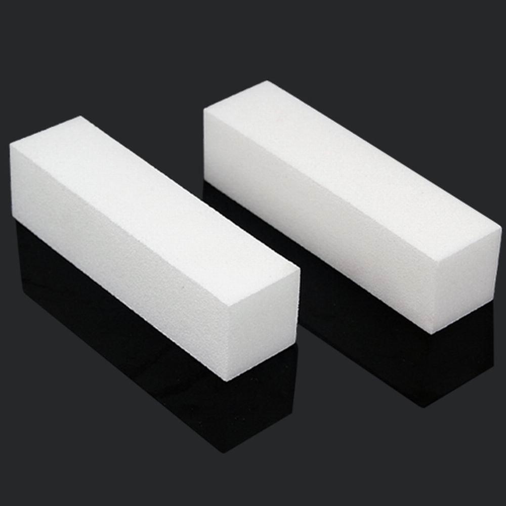 10 x White Acrylic Nail Art Tips Buffer Buffing Sanding Block Files Manicure Tool