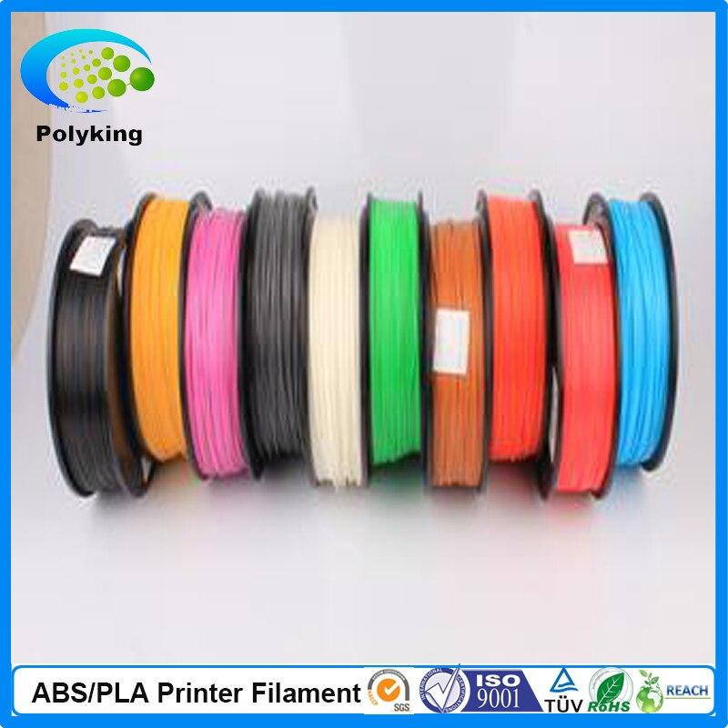 3D Printer Filament 1kg/2.2lb 1.75mm PLA/ABS Plastic for MakerBot RepRap Mendel Blue Printer Filament Parts flsun 3d printer big pulley kossel 3d printer with one roll filament sd card fast shipping
