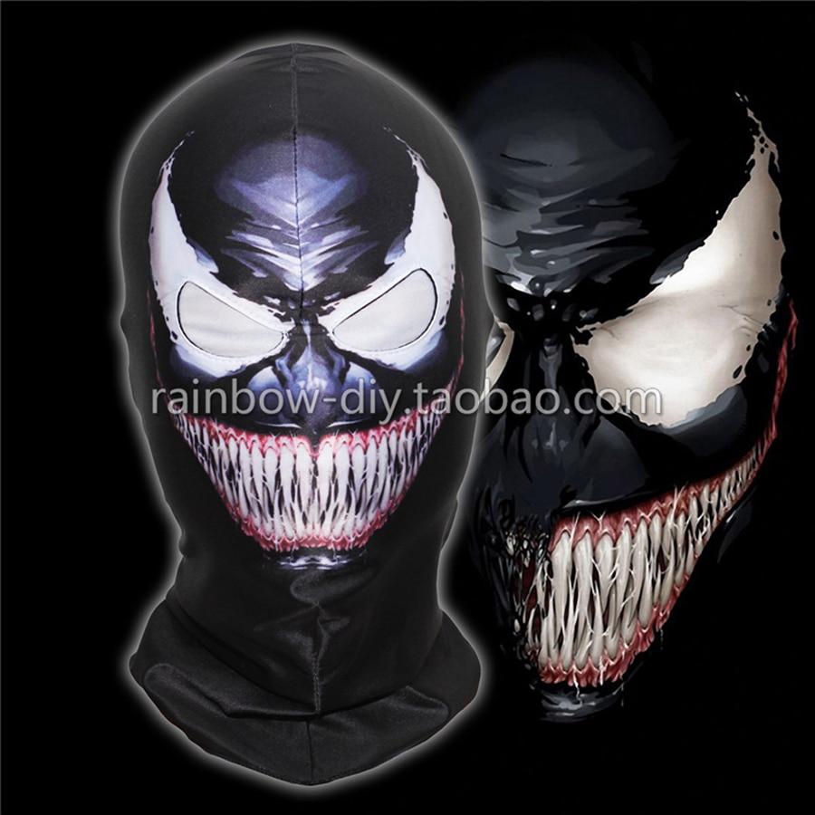 Hero Catcher Máscara venenosa de alta calidad Negro Spiderman - Disfraces - foto 1