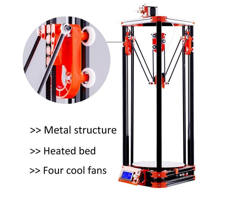 FLSUN Delta 3D Imprimante, Imprimer Taille 180*315mm 3d-Printer Poulie Version Kossel