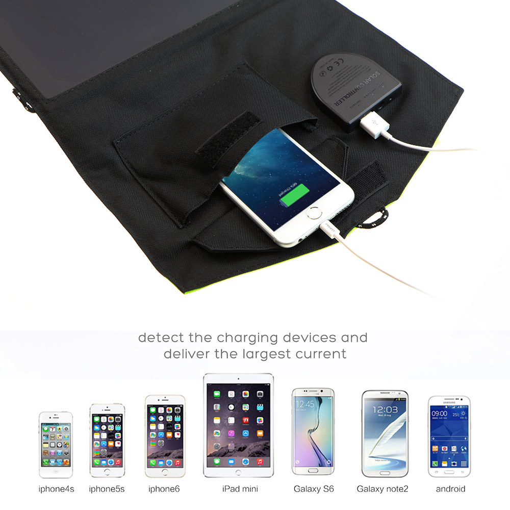 X DRAGON Fold Portable Solar Charger for iPhone iPad Macbook Acer Huawei Xiaomi Samsung HTC LG Hp ASUS Dell Alienware ROG MSI in Solar Cells from Consumer Electronics