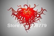 лучшая цена Free Shipping Pure Red Hand Blown Art Glass Chandelier Crystals Sale