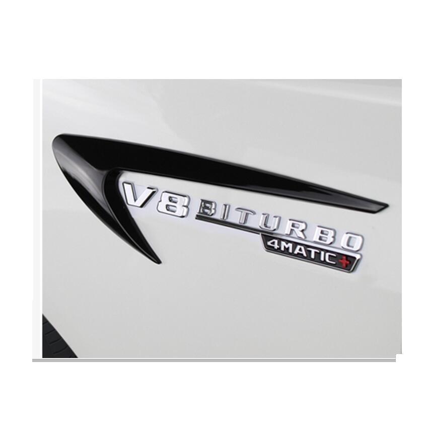 Gloss Black Flat G63 AMG V8 BITURBO Trunk Embl Badge Sticker for Mercedes Benz