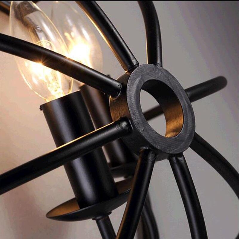 Stile industriale lampada Da Parete Comodino Americano luci Con E14 Led Candela Lampadine Creativo Turtle Shell Lampada Da Parete per Corridoio Cafe Bar - 6