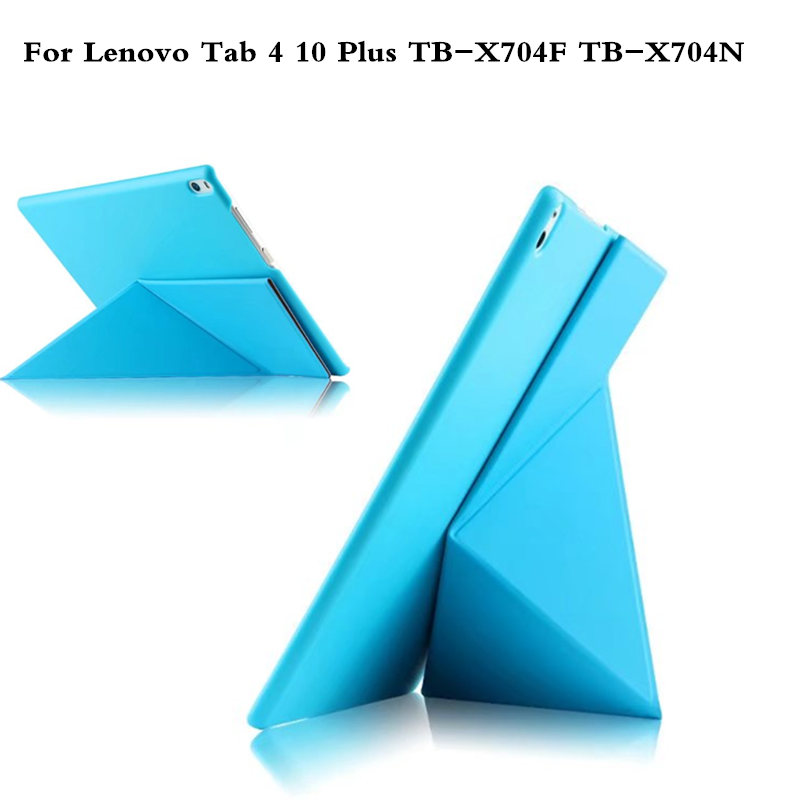 PU Leather Cover Stand Case For Lenovo TAB 4 10 Plus TB-X704F TB-X704N 10.1 Tablet Protective Tab4 10 plus Transformers Cover cctv 4 port 10 100m poe net switch hub power over ethernet poe