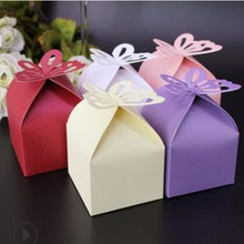 10 Pcs DIY Wedding Candy Box Decoration Paper Favors Gifts Boxes Party hot sale Butterfly For Baby Shower