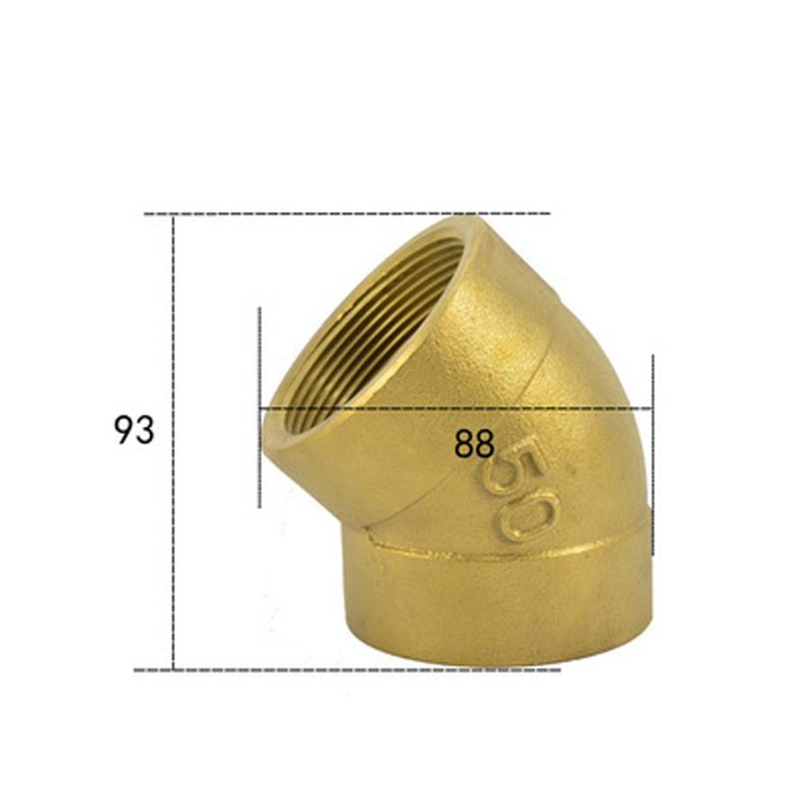 2 BSPP Euqal Female Brass 45 Degree Elbow Pipe Fitting Coupler Connector Water Gas Oil