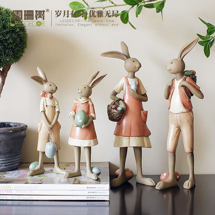 Rabbit rabbit sitting room bedroom decor bath Home Furnishing birthday childrens Day gift Christmas decoration crafts ...