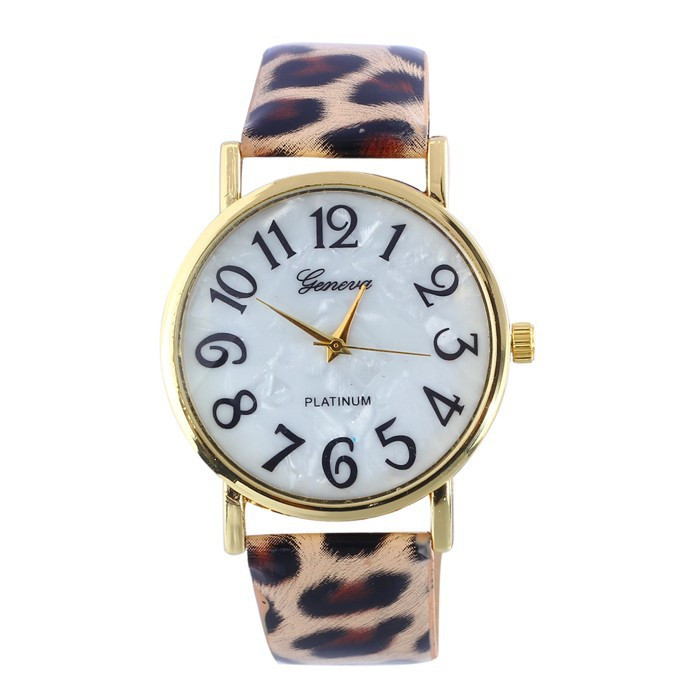 Leopard Leather quartz watch women fashion Casual bracelet wrist watch Ladies hour clock wristwatch relogio feminino 8O40 hot sell new fashion leather bracelet watch casual luxury women wristwatch quartz watch relogio feminino gift