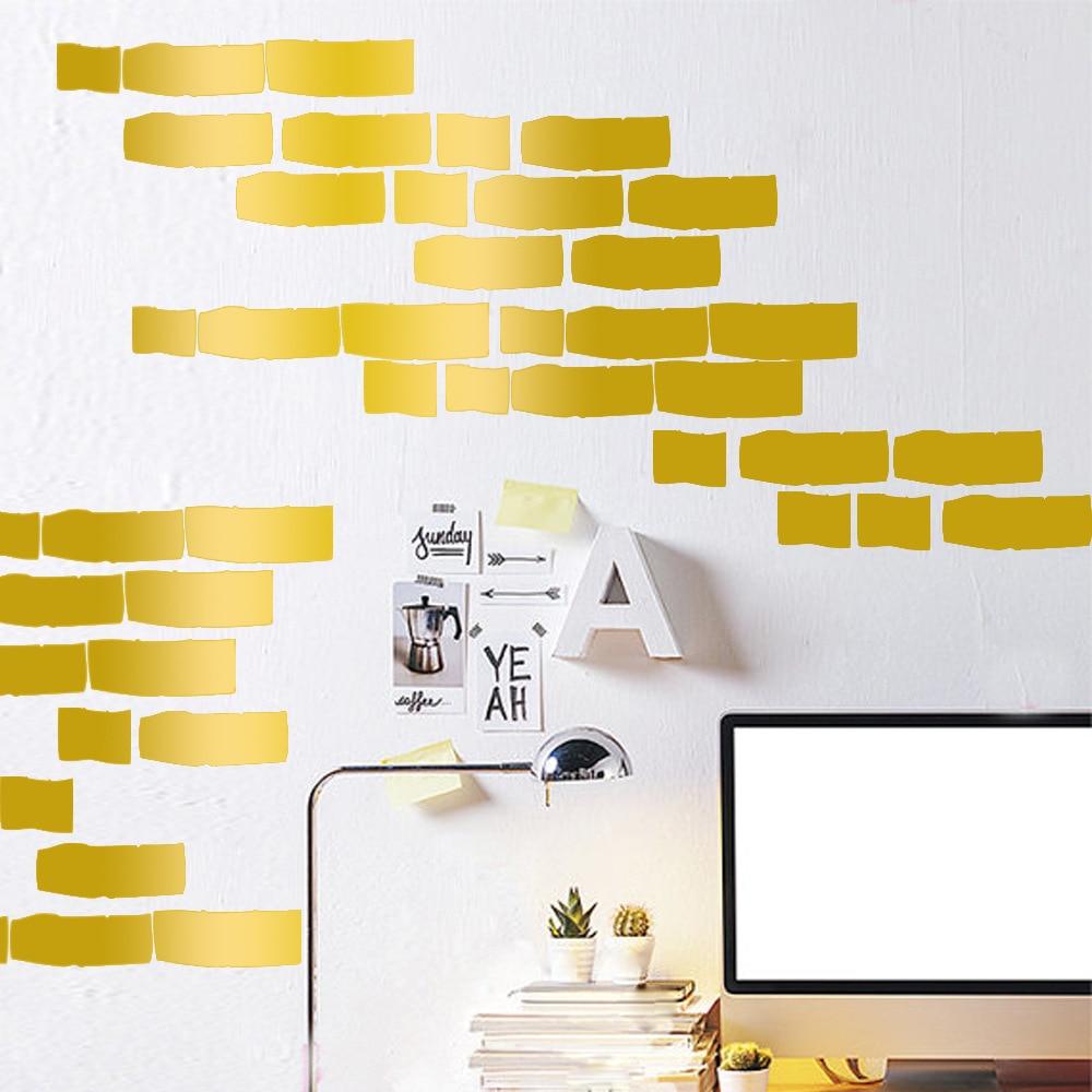 New removable Cartoon Brick stickers vinyl diy decorative wall ...