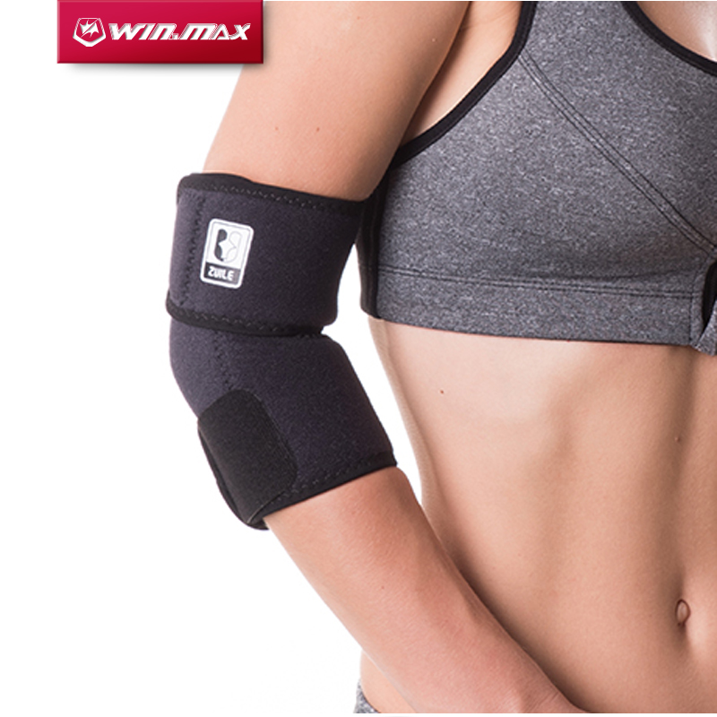 все цены на WINMAX New Arrival Professional Elbow Brace Relief Elbow Adjustable Elastic Strong Sports Badminton Elbow Support Protector Pad онлайн