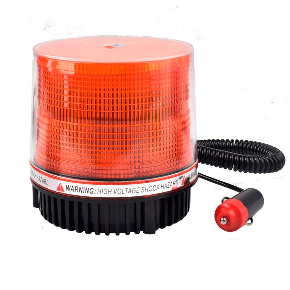 DC 12V/24V Car LED Warning Police Lights Car Flashing Highlights Round Ceiling Safety Signal Yellow Strobe Light 9 Flash