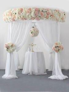Flower Arrangement Bouquet Backdrop-Decor Table-Centerpiece Artificial Wedding 2m 30cm-Corner