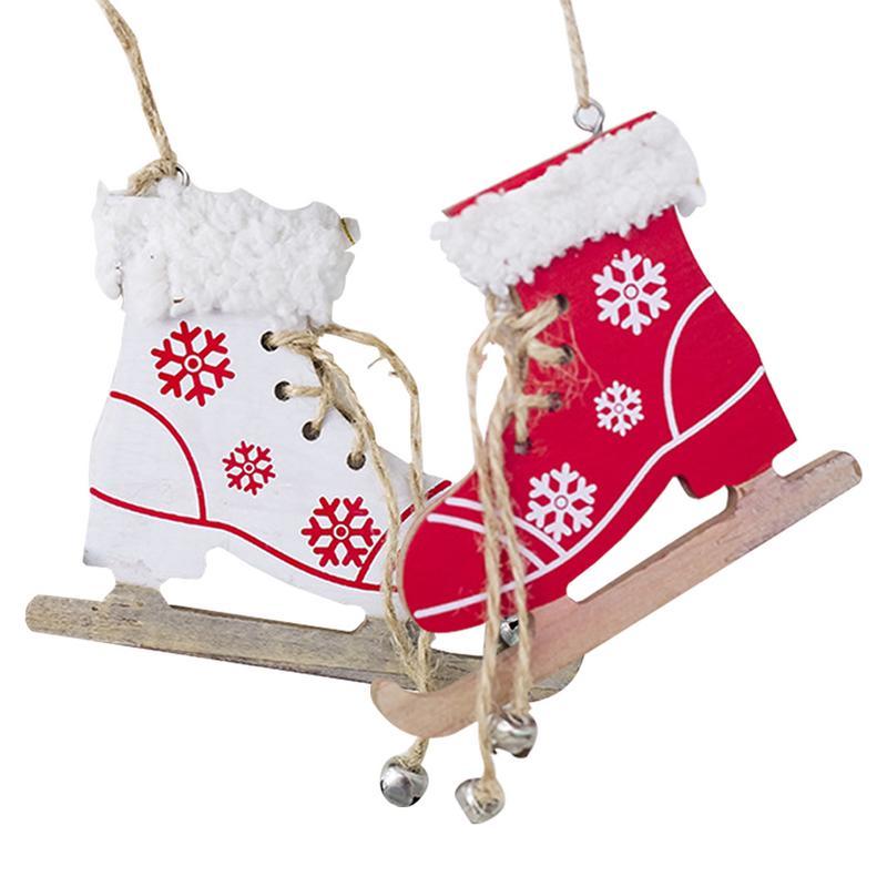 Innovative Skates Ski Shoes Pendant Christmas Painted Decorative Pendant Christmas Tree Christmas Home Decorations Diamond