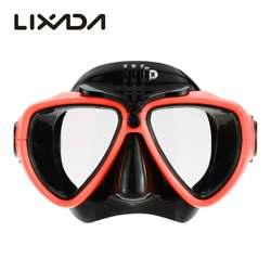 Professional Silicone gear Scuba Дайвинг маска, оборудование трубка с камерой крепление Анти-туман водостойкий плавание/очки для плавания мужчины женщины