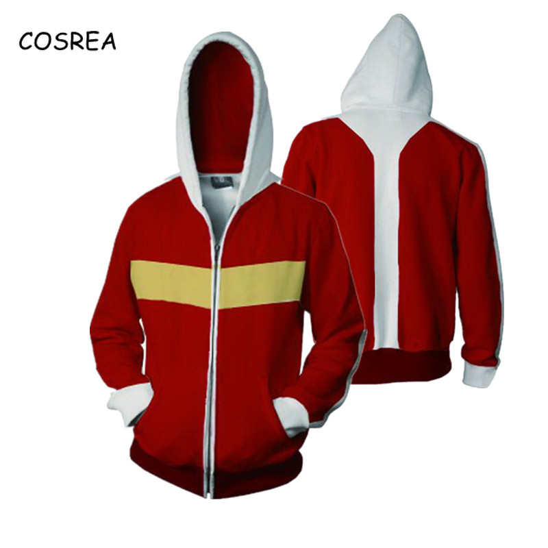 Cosrea Cosplay Costumes Voltron Rance Keith Lance Sven Pidge 3D Printing Zipper Hooded Halloween Carnival Men Women Hoodies