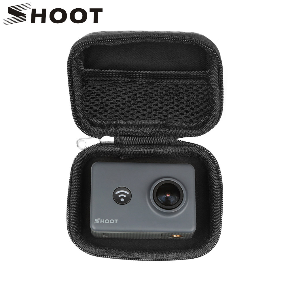 SHOOT Portable Small Size Waterproof Camera Bag Case for Xiaomi Yi 4K Mini Box Collection Case for GoPro Hero 7 6 5 4 Accessory цена 2017