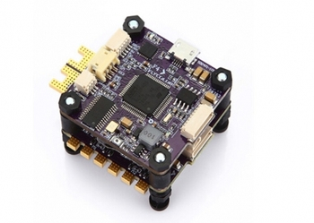X-Tower F4-40A F4 Flight Controller and 32 bits 4in1 3-6S 40A ESC Dual Vibration Damping Fytower for FPV Drones