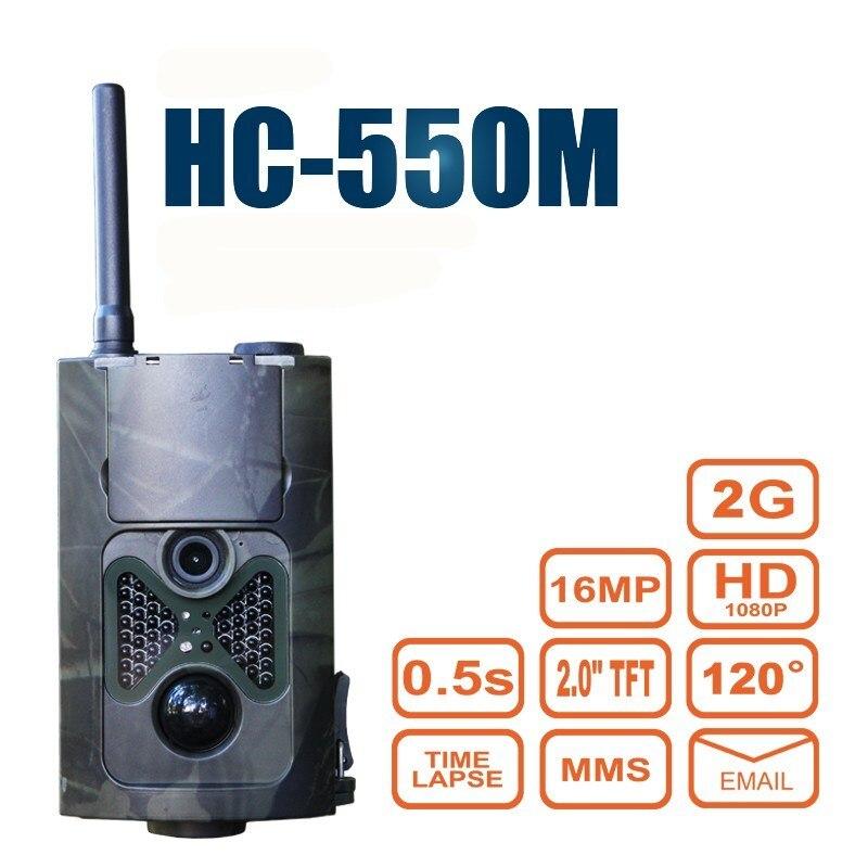 HC550M 2G Scouting Hunting Camera GSM MMS/SMS/SMTP 16MP 940NM 1080P HC-550M Digital Infrared Trail Camera Video Recorder 940nm scouting hunting camera 16mp 1080p new hd digital infrared trail camera 2 inch lcd ir hunter cam