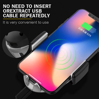 New Originality Wireless Charger Automatic Clip 360 Rotation Universal Car Holder induction Bracket Mobile Phone Air Vent Stand