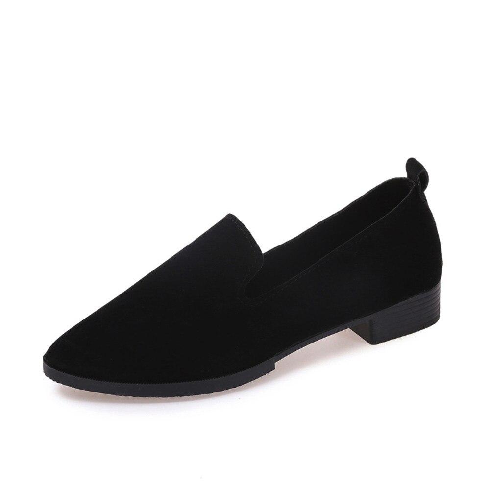 bw Unie Mode Chaussures Pointu Couleur Printemps Sagace Visage Peu Mocassins Casual gy Automne Femme No6 Bk Plates Femelle Mat Profondes gq71UPn