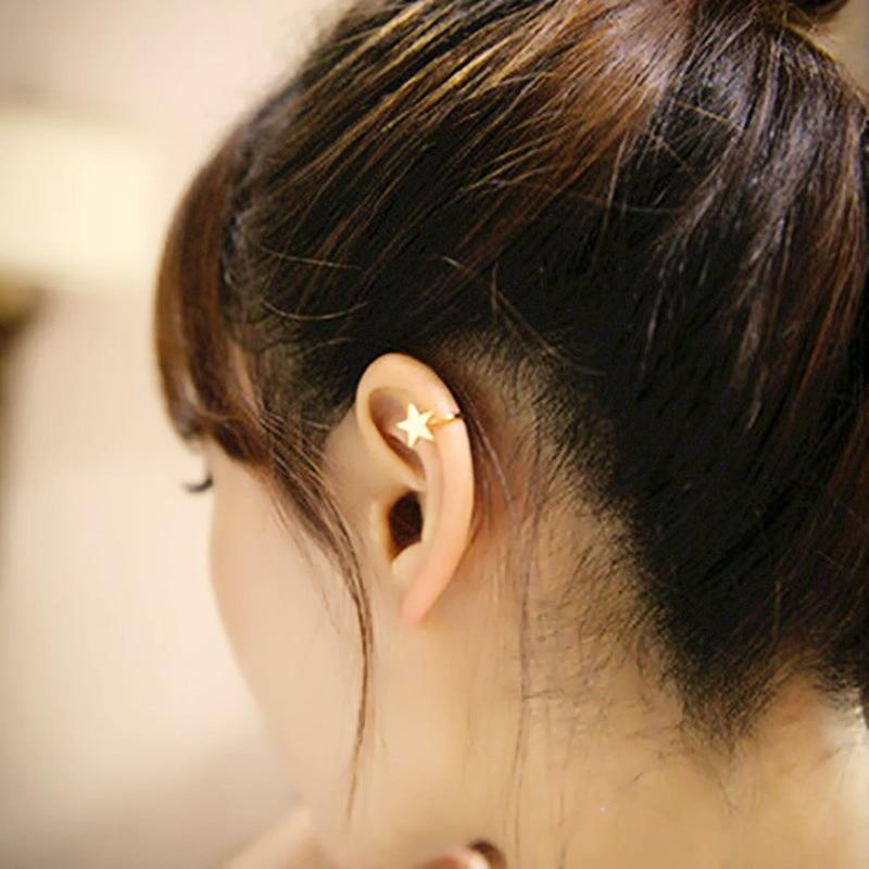 Clip Earrings Jewelry & Accessories Crystal Heart U Shape Clip Cuff Earring No Ear Hole For Women Korean Ladies Fashion Girl Female Ear Accessories Birthday Gift