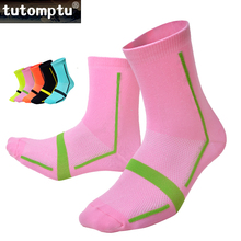Tutomptu 1 Pairs Nylon Professional Cycling Socks Bicycles Socks Sports Socks Running Soccer Basketball Football Socks Men Women