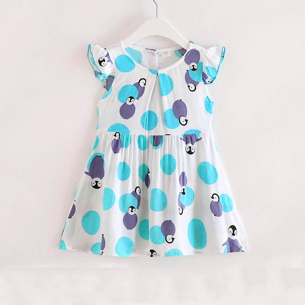 Baby Girls Summer Dress Vestidos 2018 Brand Children Princess Costume for Kids Clothes Toddler Penguin Dresses Girl Clothing