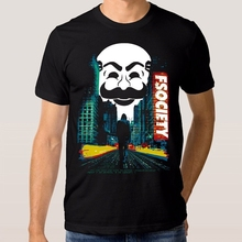 De moda de los hombres T camisa de Sr. Robot TV Show T camisa nueva Camiseta  de algodón de manga corta de los hombres T camisa l. 0c766287e3a