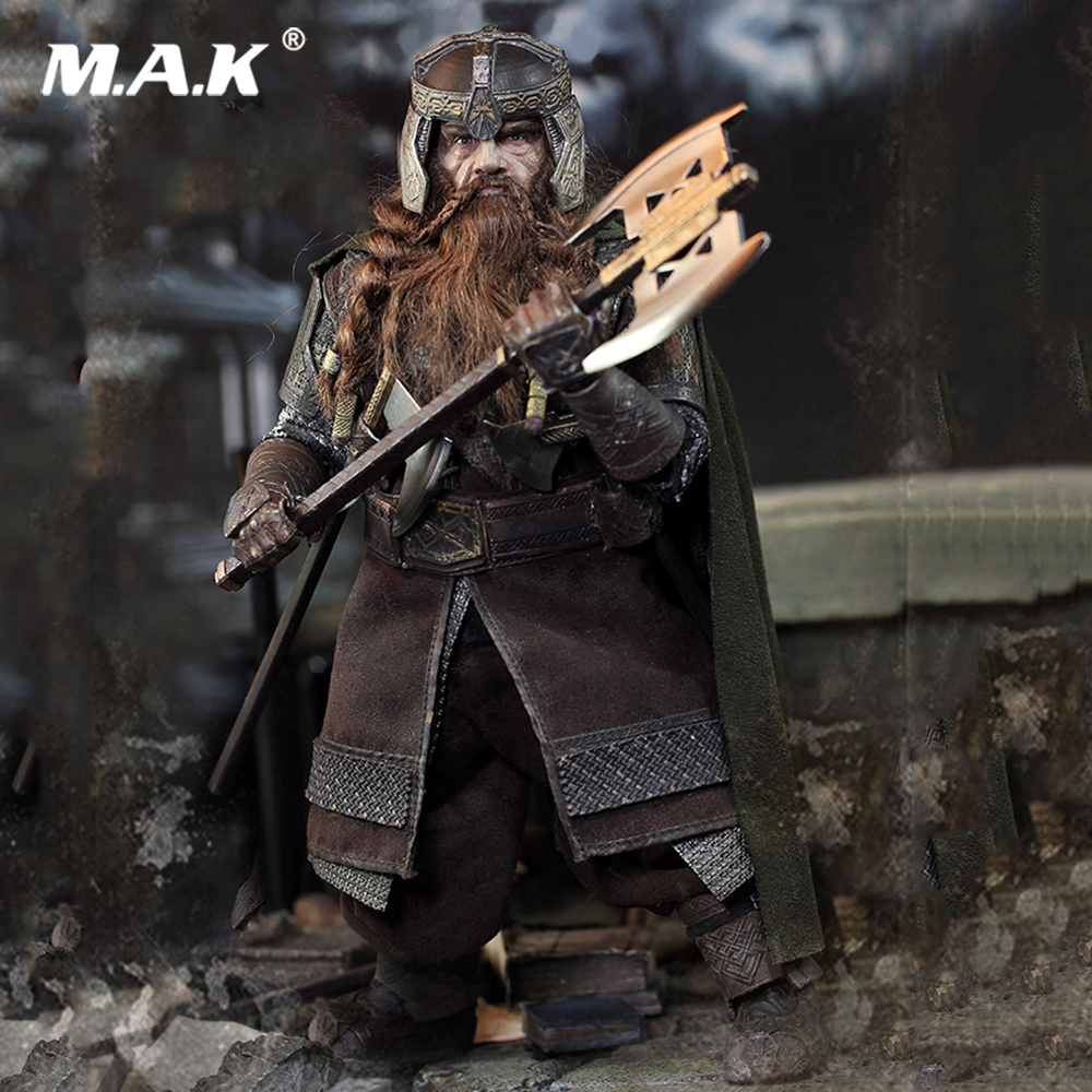 Full set action figure Hot movie Hobbit Collectible 1/6 Scale LOTR018 Hobbit Gimli Action Figure Doll Toys Gift 1 6 scale figure doll troy greece general achilles brad pitt 12 action figures doll collectible figure plastic model toys