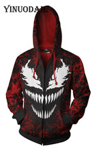 Fans Wear Red Marvel Venom 3D Hoodies for Women & Men Long Sleeve Game Cosplay Clothes 2018 Sweat Homme